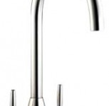 (HS935) Modern pyramid based twin lever kitchen tap mixer